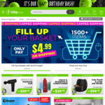 $5 Credit (with $1 Min Spend) with $4.99 Capped Shipping @ 1-day