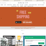 Free Shipping (Through iOS App Only) @ Onceit