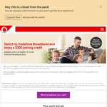 $300 Joining Credit on Vodafone Unlimited Broadband Plans (12 Month Term)
