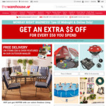 Get an Extra $5 off for Every $50 Spent at The Warehouse