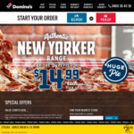 50% off Traditional or Gourmet Pizzas @ Domino's