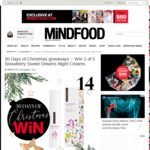 Win 1 of 5 Snowberry Sweet Dreams Night Creams from Mindfood