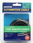 Narva Automotive Cable - Twin Sheath, 5 Metres, 10 AMP, 3mm $13.49 @ SuperCheap Auto ($11.46 with Price Match @Bunnings)