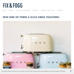 Win 1 of 3 Smeg Toasters (Worth $279 Each) and A Year's Supply of Nut Butter with Fix & Fogg