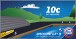 10c off Per Litre @ Gull [7:00am Thurs - 12pm Fri], 8c off Per Litre @ BP and 10c off Per Litre @ Mobil [Thursday]