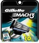 Gillette Mach3 Men's Razor Blade Refills 10 Pack USD $11.09 Delivered (NZD $15.73)
