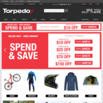 Torpedo7 -Spend & Save (Spend $100 Save $10 / $200 Save $25 / $500 Save $70)