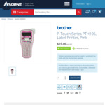 Brother Label Maker P-Touch PTH105 $5.46 after $20 Redemption @ Ascent