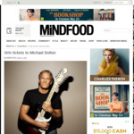 Win a Double Pass to see Michael Bolton in concert from Mindfood (Auckland)