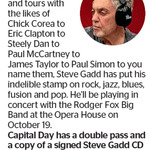 Win a Double Pass and a Copy of a Signed Steve Gadd CD from The Dominion Post (Wellington)