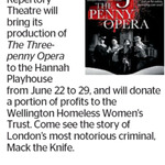 Win a Double Pass to The Threepenny Opera from The Dominion Post (Wellington)