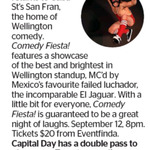 Win a Double Pass to Comedy Fiesta! from The Dominion Post (Wellington)