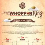Add Bacon to your Whopper for Free @ Burger King (21/10 to 27/10)