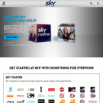 Sky Starter Pack+ Sky Go, Sky on Demand + Free Sky HD Box with Standard Installation $25.99/Month (12 Months) @ Sky