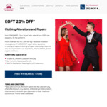 20% off Looksmart Clothing Alterations and Repairs (Min $40 Spend, Excludes Dry Cleaning, Embroidery or Retail Purchases)