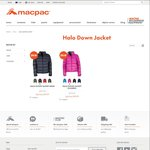 Macpac Halo down Jacket - $89.99 (Was $279.95) + Extra 10% off Sitewide @ Macpac