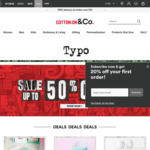 20% off Typo.com (Full priced items only)