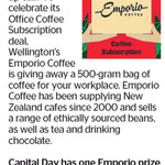 Win 500g of Emporio Coffee Beans from The Dominion Post