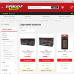 SCA Battery Heavy Duty Alkaline (AAA or AA) 24 Pack  $5 (Was $11.78) at Supercheap Auto