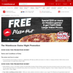 Get 2x Large Value Pizzas from Pizza Hut When You Spend $20 or More on Hasbro Games at The Warehouse
