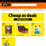 Mitre10 - Decking Oil 5L $45, BBQ Care Kit $20, Outdoor Cleaner 2.5L $16, Staple Gun Set $15