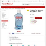 The Warehouse - Colgate Plax Spearmint Mouth Rinse 500ml - $2.97 Delivered