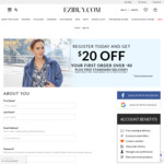 Spend $40 and Get $20 off + Free Standard Delivery @ Ezibuy.com