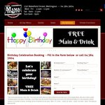 Get a Free Main Meal + Drink on Your Birthday (with 1 Paid Meal) @ Mama Brown (Wellington)