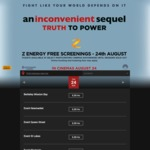 "Free Tickets ($1.20 Booking Fee) to ""An Inconvenient Sequel""  Movie Screening 6:30pm 24 August"