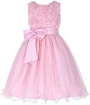 Sleeveless Flower Girl Dress (2 Yrs-12 Yrs) with Belt for USD $9 (~NZD 13.09) Shipped @ GraceKarin.com