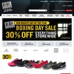 Rebel Sport - 30% off Sitewide Boxing Day Sale