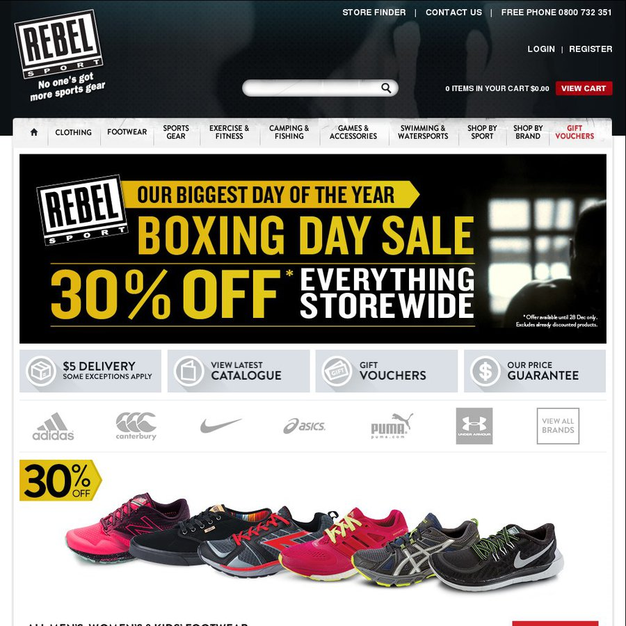 Rebel Sport 30 Off Sitewide Boxing Day Sale Choicecheapies