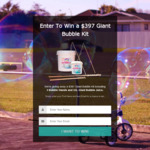 Win a Giant Bubbles Kit (Worth $397) from Giant Bubbles