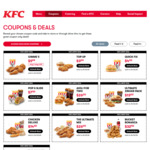 KFC - Gimme 5 Coupon - 5 pc original recipe & reg chips $9.99