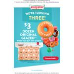 $3 Dozen Original Glazed When You Buy Any Dozen @ Krispy Kreme