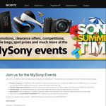 My Sony Event. Auckland 17 Nov Christchurch 24 Nov 20% off Online 6pm-Midnight Those Dates