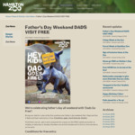 Free Entry for Dads at Hamilton Zoo When They Visit with Their Child/ren on Father's Day Weekend 2018