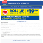 Flu Immunisation - $19.99 @ Chemist Warehouse (Auckland)