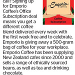 Win a 500-Gram Bag of Emporio Coffee from The Dominion Post
