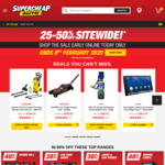 25-50% off Sitewide @ Supercheap Auto
