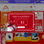 US $7 off (US $50 Min Spend), US $10 off (US $100 Min Spend) or US $15 off (US $150 Min Spend) at AliExpress