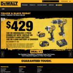 Dewalt Black Friday Deals - Hammer & Impact Drills Kit $429, Hammer & Impact Drills $329(M10), Angle Grinder Kit $299(Bunnings)