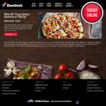 40% off Pizza (Excluding Value and Extra Value Pizza) @ Domino's