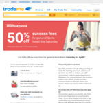 50% off  Trademe Success Fee on Saturday (14/4)