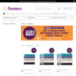 Farmers Online Deals ($15 Towels, $199 Panasonic Vacuum, 5.5kg Top Load Washing Machine $299 etc)