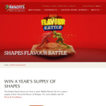 Win 1 of 7 Prizes of a Year's Supply of Your Favourite Flavour of Shapes from Arnott's Biscuits Ltd [Play Online Game]