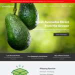 25 Avocados for $25 + Free Delivery to North Island (Expired), + $3 Shipping @ Grower Outlet