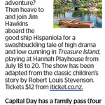 Win a Family Pass to Treasure Island (play) from The Dominion Post (Wellington)