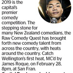 Win a Double Pass to Raw Comedy Quest from The Dominion Post (Wellington)