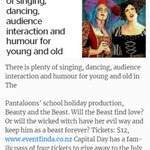 Win a Family Pass of 4 Tickets to See Beauty and The Beast at The Gryphon Theatre from The Dominion Post (Wellington)